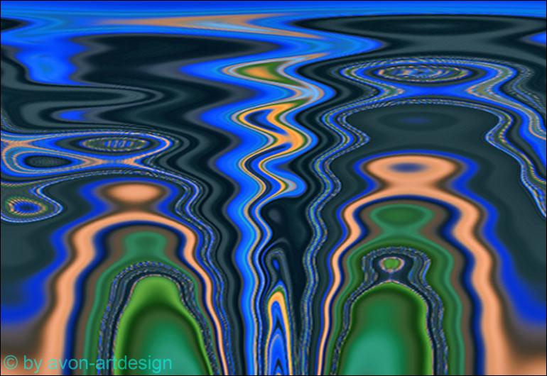 Digital Art – Spiegelung im Wasser
