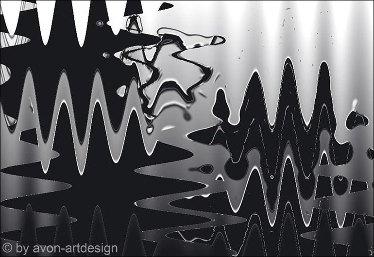 Digital Art – Wellengang Grau