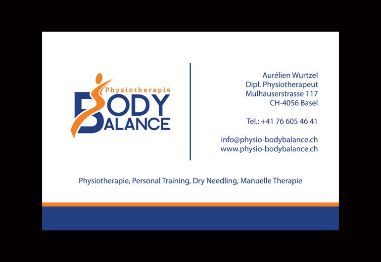 Visitenkarte-Design Body Balance